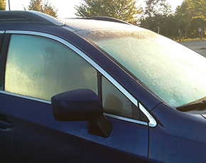 Frost on Car Windows
