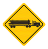 Logging truck sign