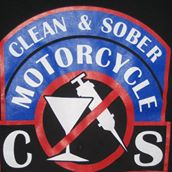 Clean & Sober Motorcycle Logo